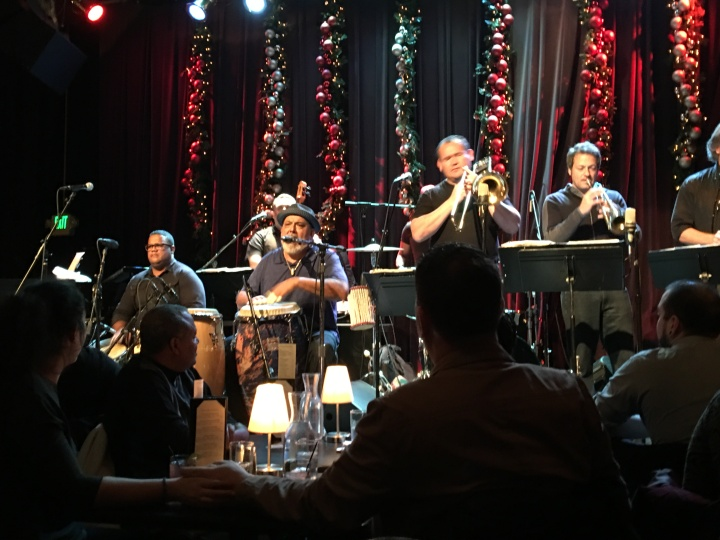 Image of Poncho Sanchez performing at Jazz Alley